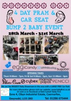 4 Day Pram & Car Seat Bump 2 Baby Event